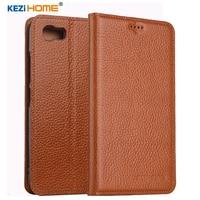 KEZiHOME For ASUS Zenfone Pegasus 3s Max ZC521TL Case Flip Genuine Leather Soft Silicon Back For