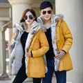 Womens Mens Lovers Couples Winter Warm Fleece Thicken Hooded Furs Padded Coats Outerwear jackets Parka Big Size XXXL 4X 5X Y2044