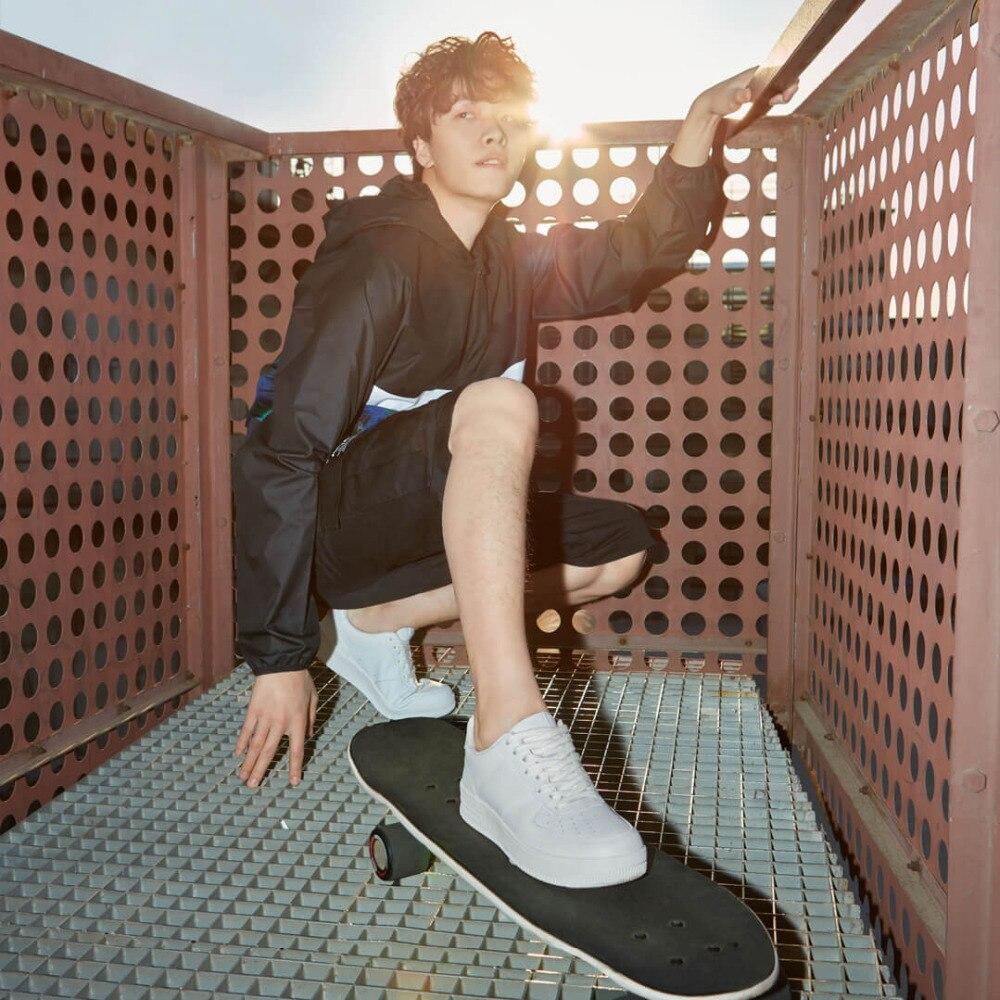 Xiaomi 90 повседневная мужская обувь для скейтборда, спортивные уличные кроссовки из воловьей кожи, нескользящая обувь, обувь на толстой плоско... - 4