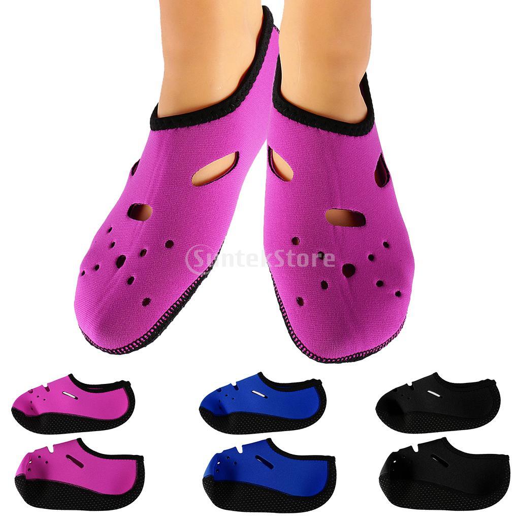 1 Pair Swimming Diving Socks Neoprene Surfing Beach Boots Non-Slip Shoes Unisex