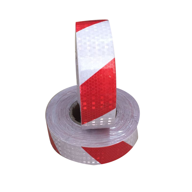 5CM *45M  Red/White Reflective Safety Warning Conspicuity Tape Sticker