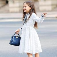 2019 Kids Clothes Baby Girls Lace Dress Spring Summer Party Bridesmaid Pageant Dresses New Toddler White Girls Princess Dress 12