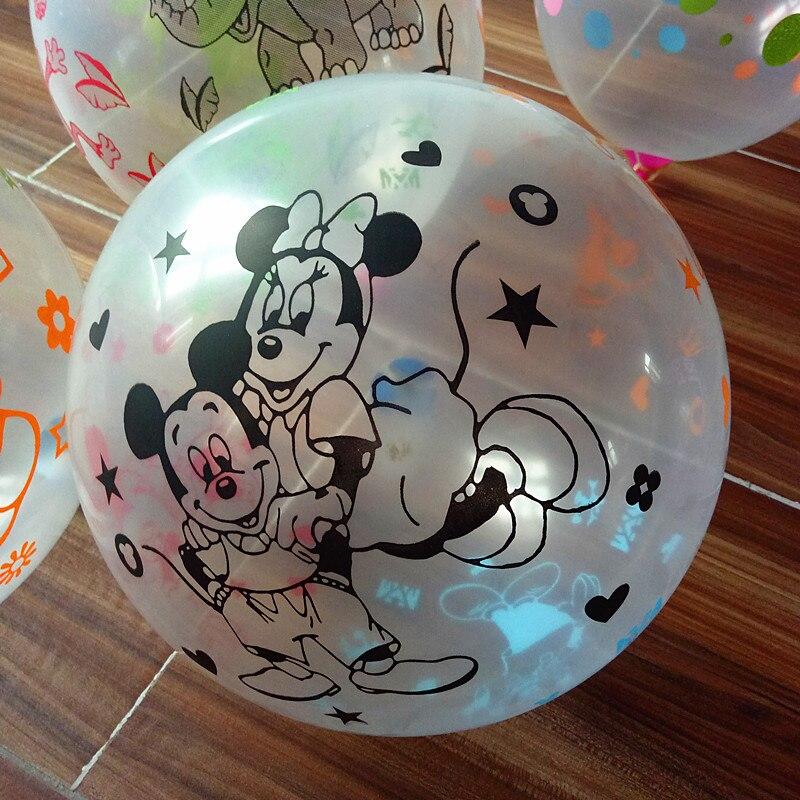 New balloon 50 pcs 20 p 12 pollici 2.8g Trasparente Stampa di Mickey Mouse Palloncini In Lattice Aria Palle di Nozze Gonfiabile festa di compleanno di UNNew balloon 50 pcs 20 p 12 pollici 2.8g Trasparente Stampa di Mickey Mouse Palloncini In Lattice Aria Palle di Nozze Gonfiabile festa di compleanno di UN