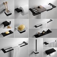 Bath Hardware Sets Bathroom Accessories 304 Stainless Steel Towel Rack Toilet Paper Holder Soap Dish Bathroom Hardware Pendant