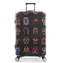 JULYS SONG Luggage Protective Cover For 18 to 32 inch Trolley Suitcase Elastic Dust Bags Luggage Case Travel Accessories Supply cheap 74cm polyester Animal Prints JULY S SONG 400g 50cm 28cm Luggage Cover AAB0944 for 18-20 inch suitcase for 22-24 inch suitcase