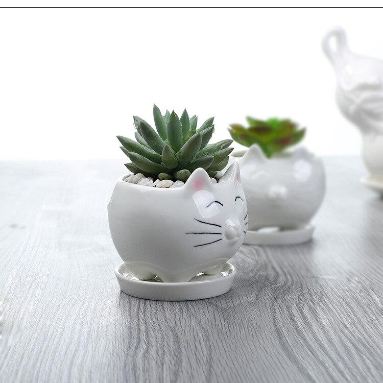 Cat Face Ceramic Pot