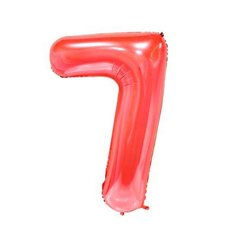 32 дюйма розовый синий 40 дюймов красный фольгированный шар большой гелиевый номер 0-9 Globo день рождения для детей Вечеринка мультфильм шляпа Декор - Цвет: red 7