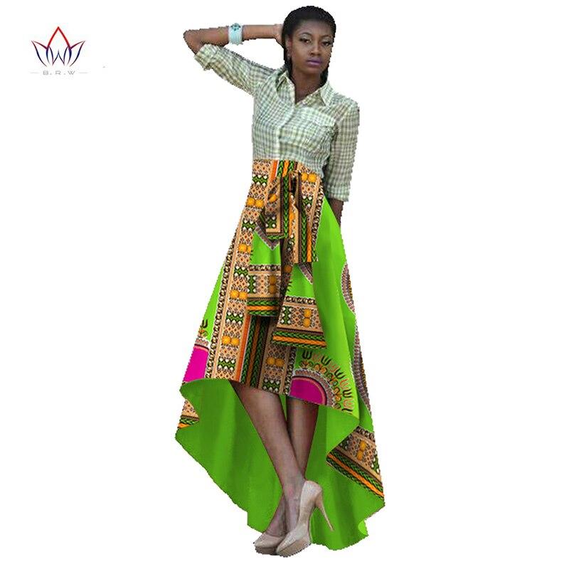 Vêtements africains traditionnels jupes d'impression africaine femmes Bazin Riche Maxi jupe Dashiki impression cire longue jupe africaine BRW WY424