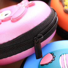 Candy Color Silicone Superhero Coin Purse with Earphone Storage