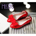 Fashion women shoes Solid Slip-On Bowtie round toe flats shoes Soft Leather Spring/Autumn comfortable Egg roll shoes