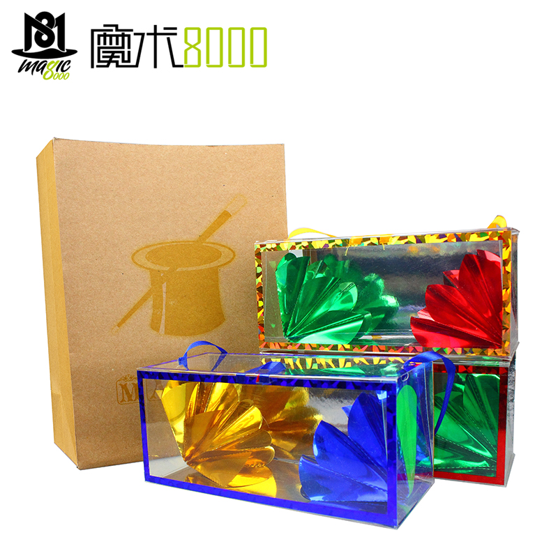 The Flower Box Production Dream Bag Magic Tricks Close Up Easy Magic Accessories Magic Paper Bag Empty Bag Output