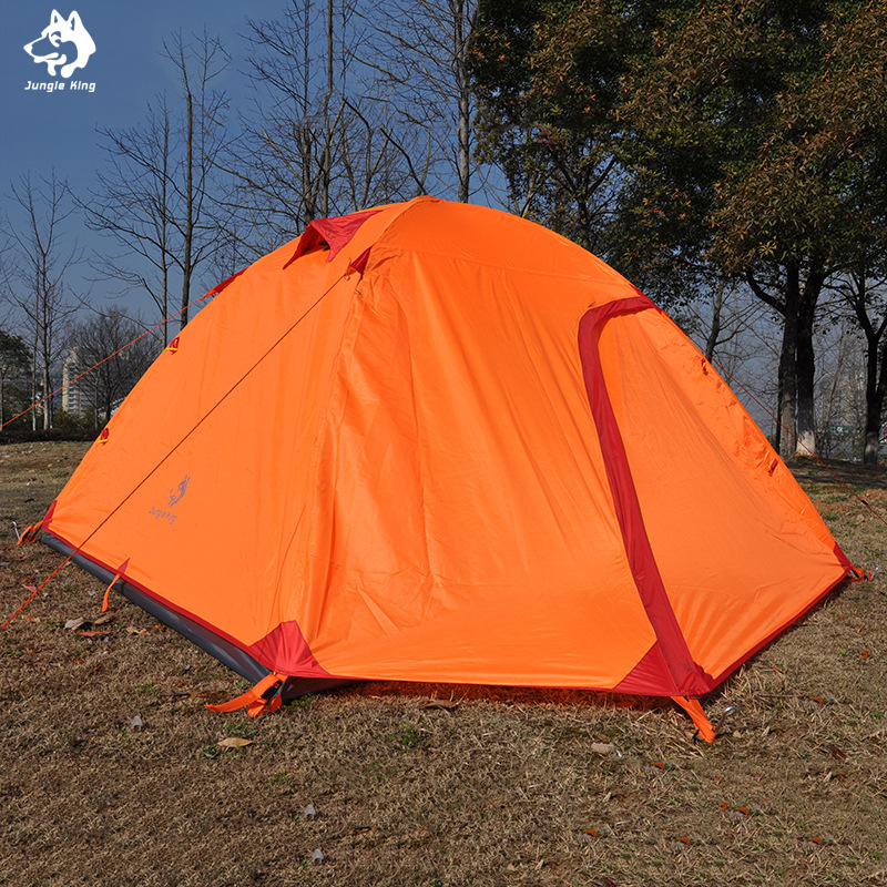 Jungle King 2017 new outdoor double 4 aluminum pole tent outdoor tent camping tent waterproof tent