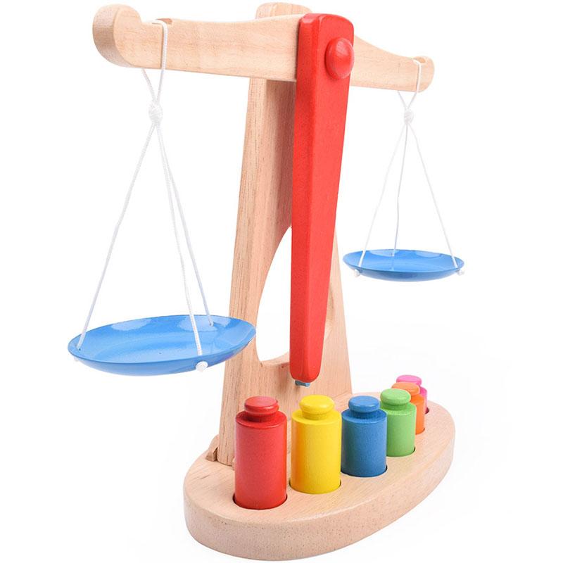 Materiais Montessori Balanças de Peso Conjunto de