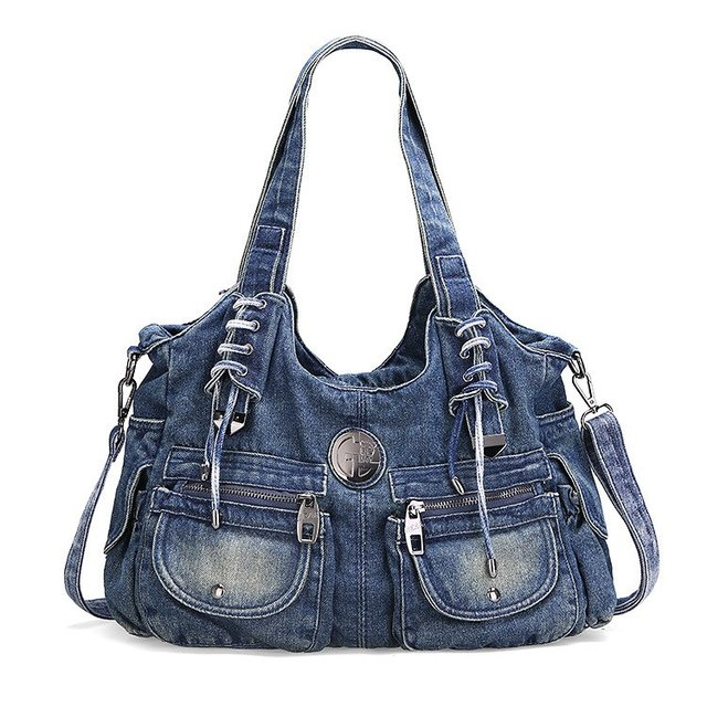 2017New Fashion Large Luxury Handbags Women Bag Designer Ladies Hand bags  Big Purses jeans bagTote Denim Shoulder Crossbody sac 020afe85fb650
