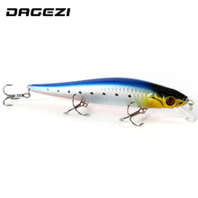 DAGEZI Big 3 hooks hard fishing lure 16CM/23G 5 pcs/lot fishing bait minnow bass lure fishing tackle artificial wobbler pesca