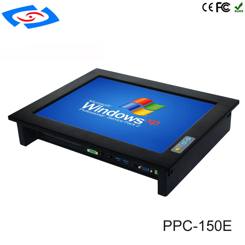 Cheap Wall Mount Touch Screen PC IP65 Embedded Industrial Panel PC With XP/Win7/Win10/Linux System For Factory Automation Tablet shenzhen ling jiang high performance 15 fanless industrial touch screen panel pc with xp win7 win8 win10 linux system tablet
