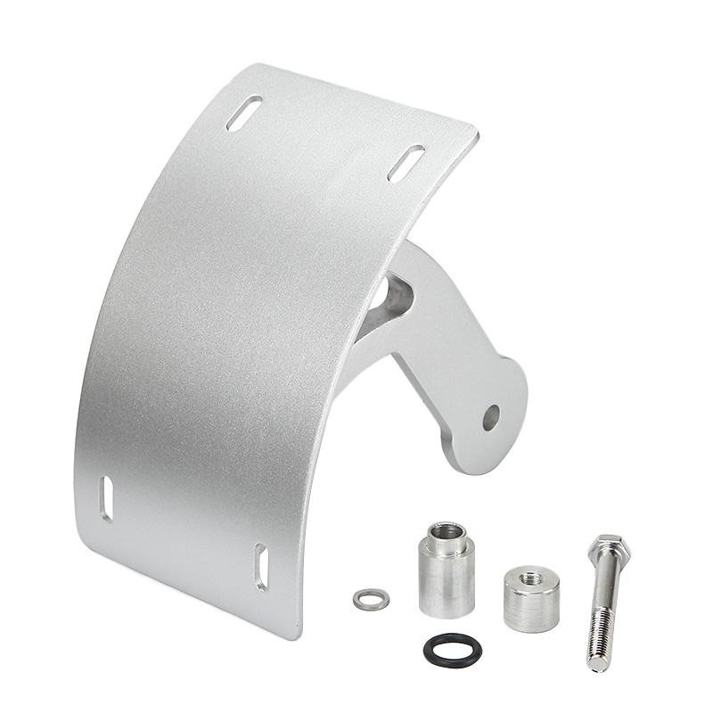 Motorcycle Bike Polish Curved License Plate Bracket Tag Relocator Registration Plate Holder For Suzuki Boulevard M109R 2006~2013
