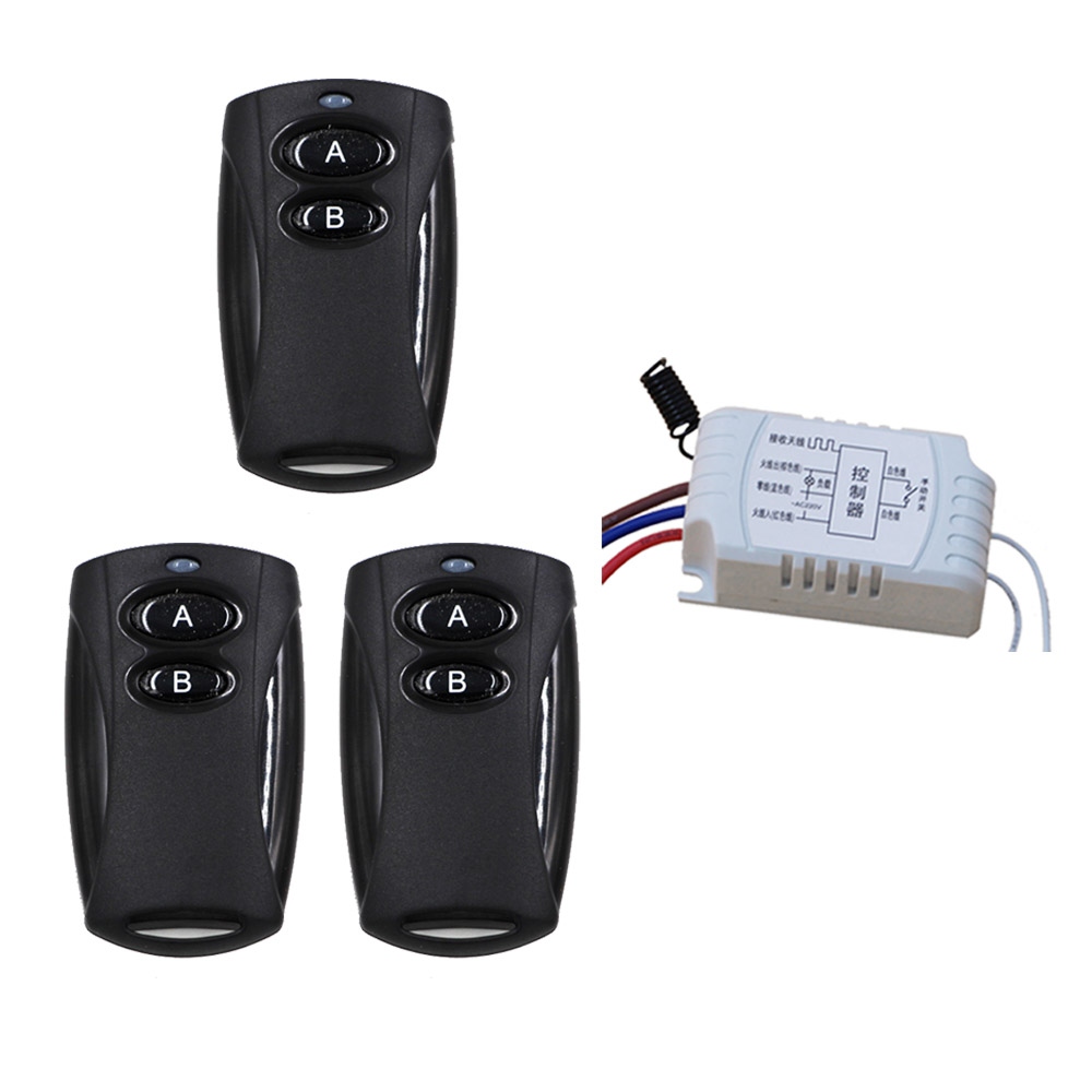 Curtain Lighting Remote Control Switch Wireless Remote Controller and Manual Switch Receiver Transmitter 315Mhz new arrival wireless remote control switch system dc 12v 24v 2ch remote controller switch for curtain lighting toy 315 433mhz