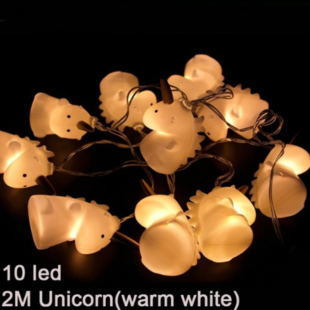 LumiParty 10 LEDs Cute Unicorn String Lights Festival Garden Party Pool Yard Decoration