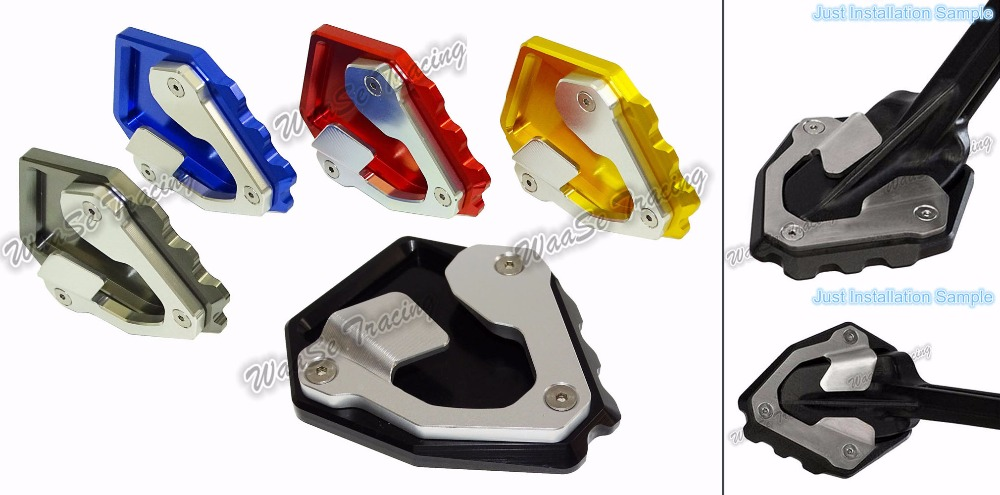 waase Kickstand Foot Side Stand Extension Pad Support Plate For Honda CRF1000L Africa Twin ABS/DCT 2016 2017 waase front