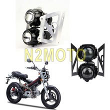 Twin легкая мотоциклетная фара лампы проектора Streetfighter фары для Sachs MadAss 50 125 500 Вт/монтажный кронштейн