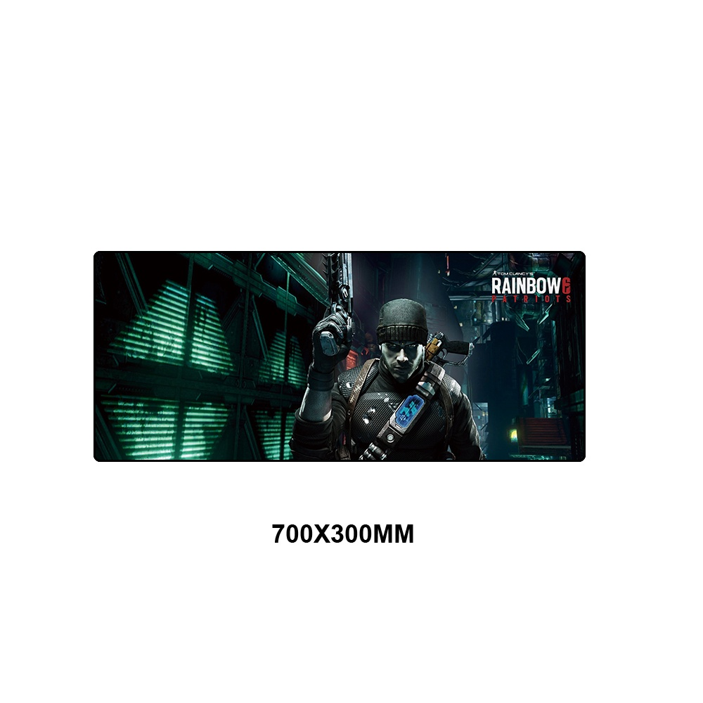 Rainbow Six Siege Gaming Mousepad XL Large Rubber Gamer Desk Keyboard  Overlock Edge Mouse Pad Play Mats for Computer PC Laptop