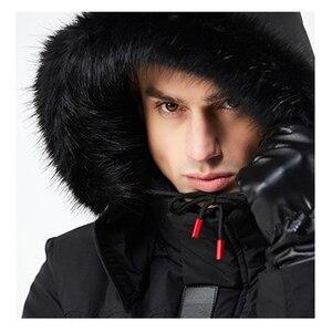 Image 5 - موضة الشتاء سترات الرجال 30 درجة جديدة معاطف السترة الرجال معطف دافئ سترة غير رسمية سماكة معطف الرجال لفصل الشتاء 8Y21F