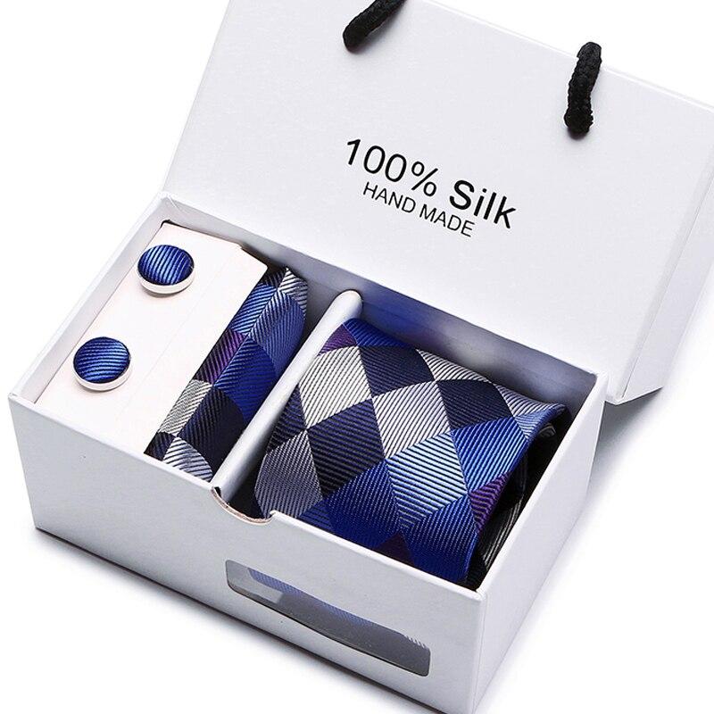 Neue Plaid Krawatte Für Männer Extra Lange Größe 145 cm * 8 cm Krawatte Grün Paisley Silk Jacquard Gewebt Hals krawatte Anzug Hochzeit geschenk box