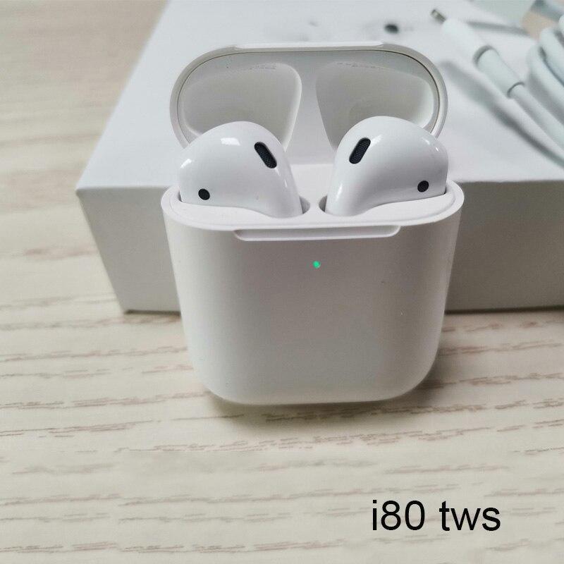 TWS i80 Bluetooth écouteurs W1 puce Pop Up écouteurs Super basse sans fil casque 1:1 taille écouteur vs i20 i30 i60 tws