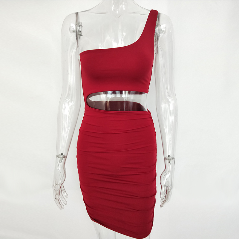 Off Shoulder Hollow Out Bodycon Bandage Dress