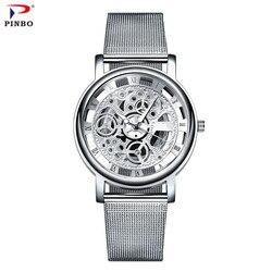 Montre hommes d'affaires en acier inoxydable montres 2017 Top marque de luxe célèbre montre à Quartz homme montre-bracelet Relogio Masculino C87
