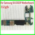 100%, prueba de 32 gb desbloqueado original para samsung galaxy s6 g920p motherboard con chips, para galaxy s6 g920p placa base, envío libre