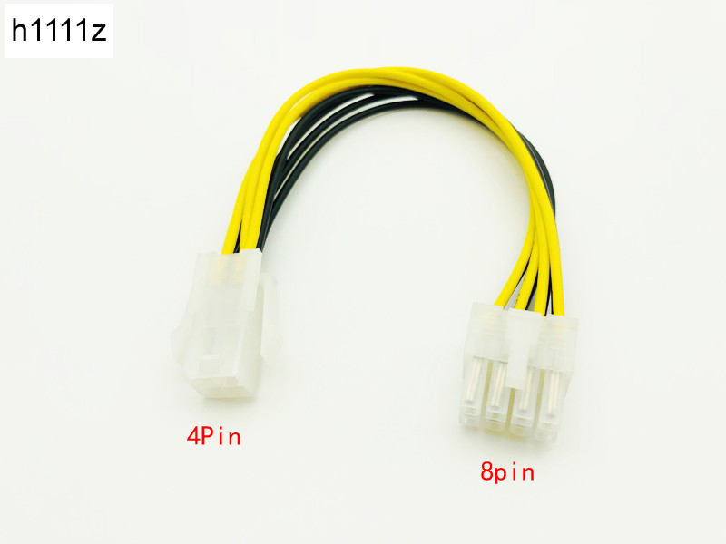 20cm ATX 4 Pin 4Pin to 8 pin 8Pin EPS 12V ATX Motherboard Power Supply Adapter Converter Cable For Bitcoin Miner Antminer Mining new arrival 4 male pin p4 to 8 female pin atx eps pc cpu power convertor adapter cable connectors