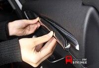 ! Для Audi A3 8 В V 2016 2013 True Carbon Interior Центральная приборная панель Console Strip Trims левый привод