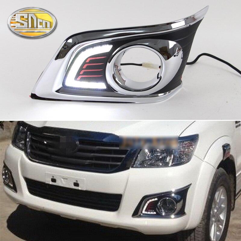 For Toyota Hilux Vigo 2012 2013 2014 Super Brightness Waterproof ABS 12V Car DRL Lamp LED