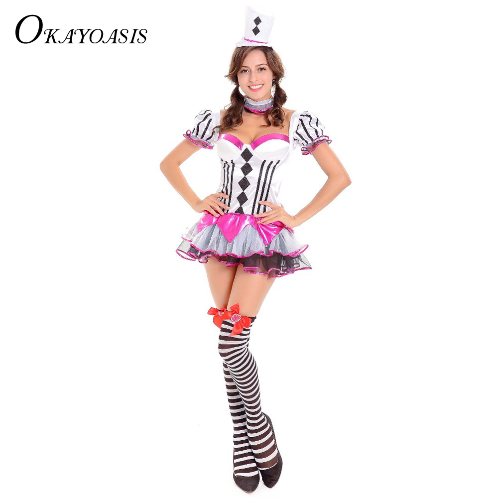OKAYOASIS Alice in Wonderland Princess Cards Poker Maid Dress Costumes  Cosplay Halloween Costume M XL c2e5b4b5f958