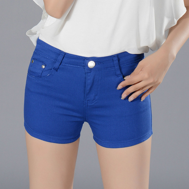 Brand Clothes New 2017 Summer Women Shorts Panty Candy Colors Elastic Jeans Skinny Casual Shorts Rivet