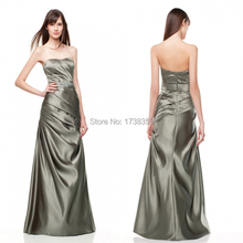 2015 Free Customize All Size Summer Silver Gray Beaded Sashes Pleat Sleeveless Sweetheart Taffeta Long A Line Bridesmaid Dresses