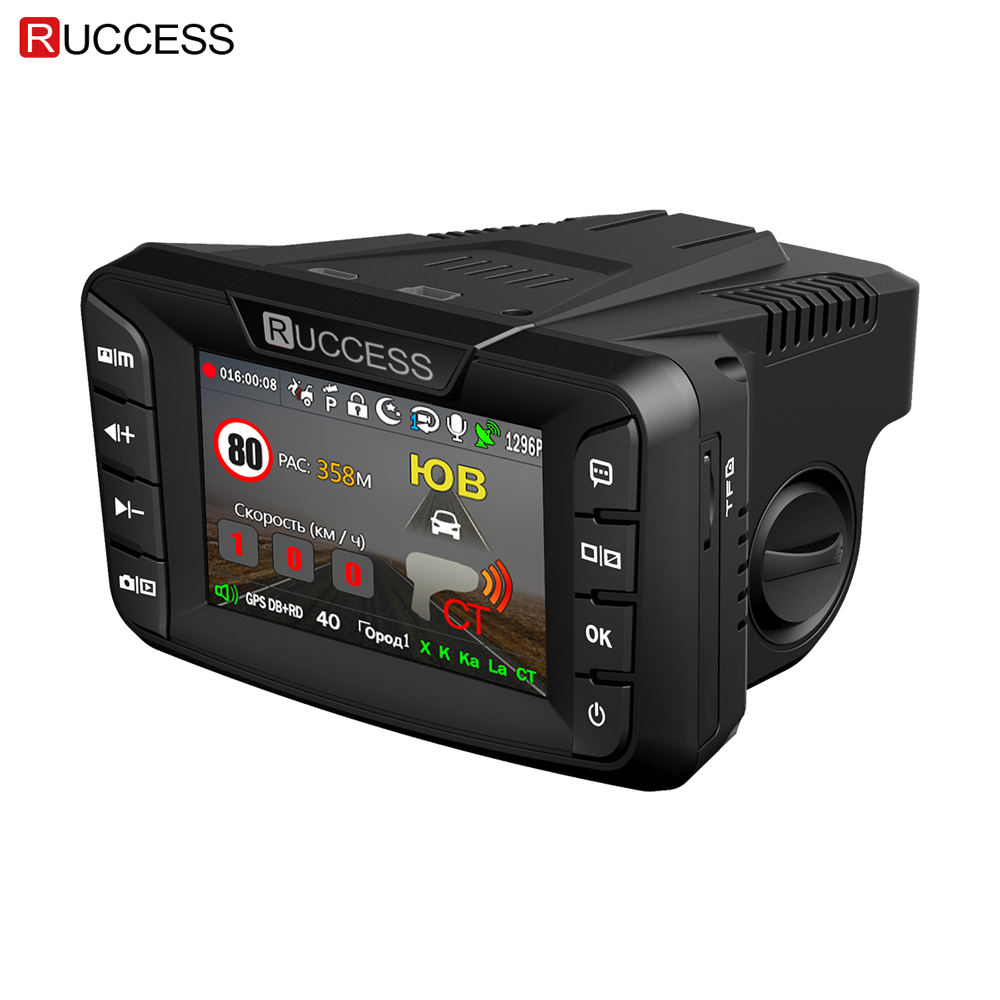 Ruccess Radar Detectors 3 in 1 DVR Radar Detector GPS Anti Radar for Car Full HD 1296P Car Camera 1080P Video Recorder Auto CamRuccess Radar Detectors 3 in 1 DVR Radar Detector GPS Anti Radar for Car Full HD 1296P Car Camera 1080P Video Recorder Auto Cam