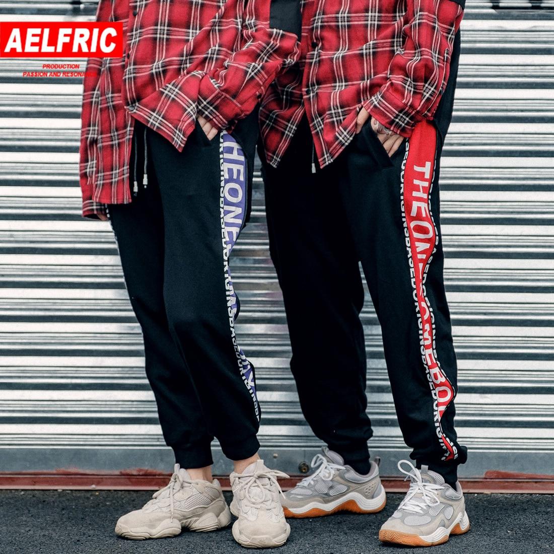 Aelfric Hip Hop Pants Side Track Zipper Design Streetwear Women Fashion Trousers Printed Haren Pants Unisex Swearpants KJ348 thumbnail