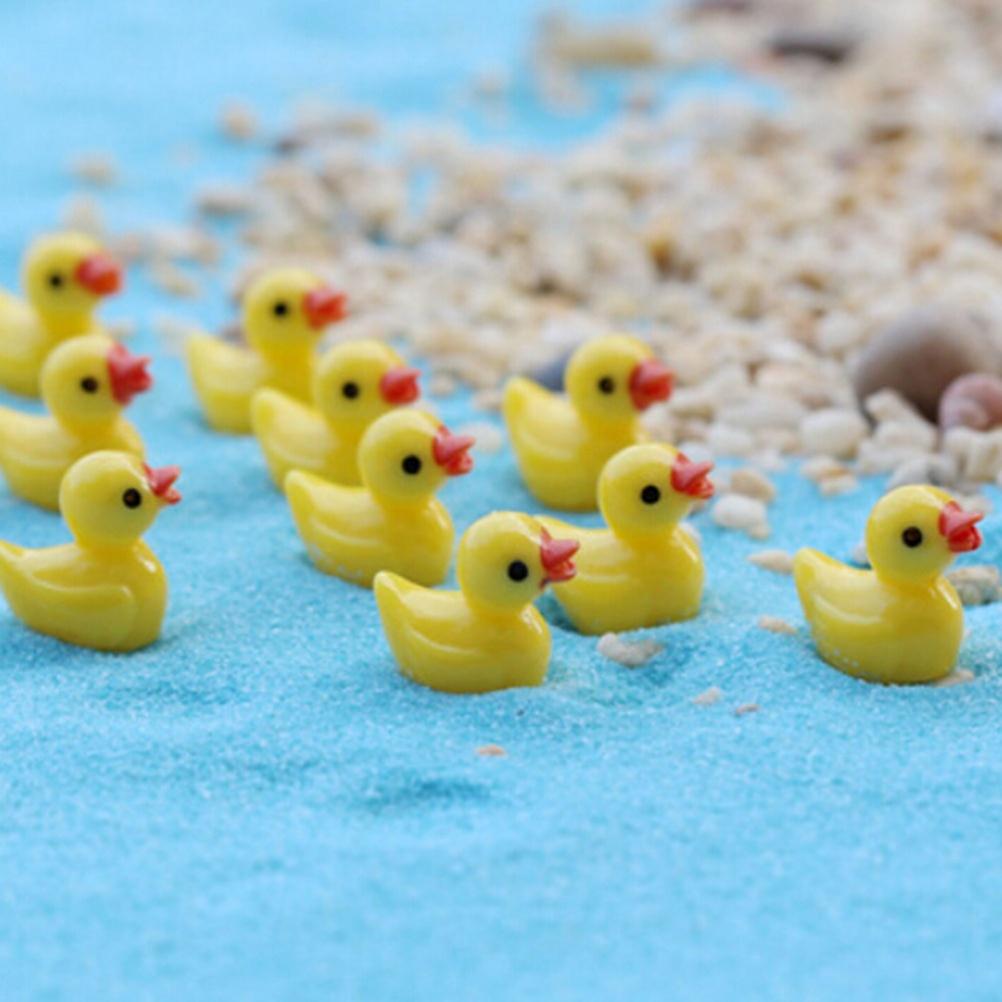 6 /10Pcs/set Mini Cute Little Yellow Duck Resin Crafts For Home Plants Decoration Miniature Dollhouse Fairy Garden Ornaments