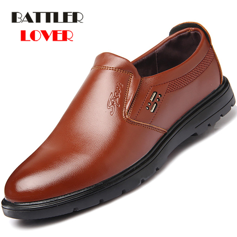 2019 Summer Comfortable Slip-On Genuine Leather Loafers For Men Shoes Moccasins office Business Dress Formal Male Wedding Shoes