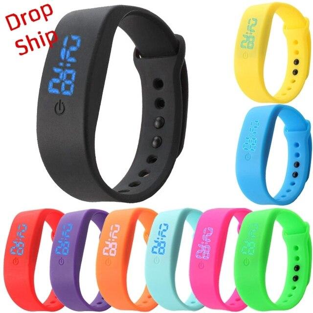 c9a90bafcc8 Relógios Data Esportes Relogio masculino Feminino Esportivo Pulseira de  borracha LED Digital Relógio de Pulso o