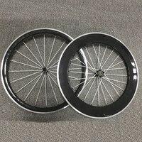 Полный углерода колеса сплава тормозной довод велосипедов колеса 38/50/60/80 мм колеса велосипеда дороги R13 свет концентратор Велоспорт колеса