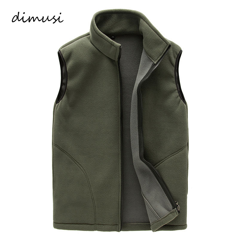 DIMUSI Men Winter Fleece Vest Male Thick Warm Waistcoat Outwear Casual Thermal Soft Vests Mens Windproof Sleeveless Jacket,YA720