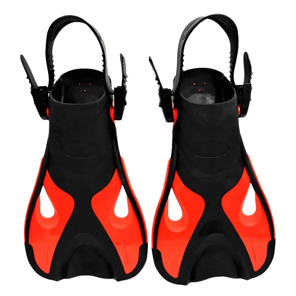 1 Pair Portable Swim Fins Adjustable Snorkeling Scuba Diving Training Swim Fins Open Heel for Kids Underwater Equipment Diving