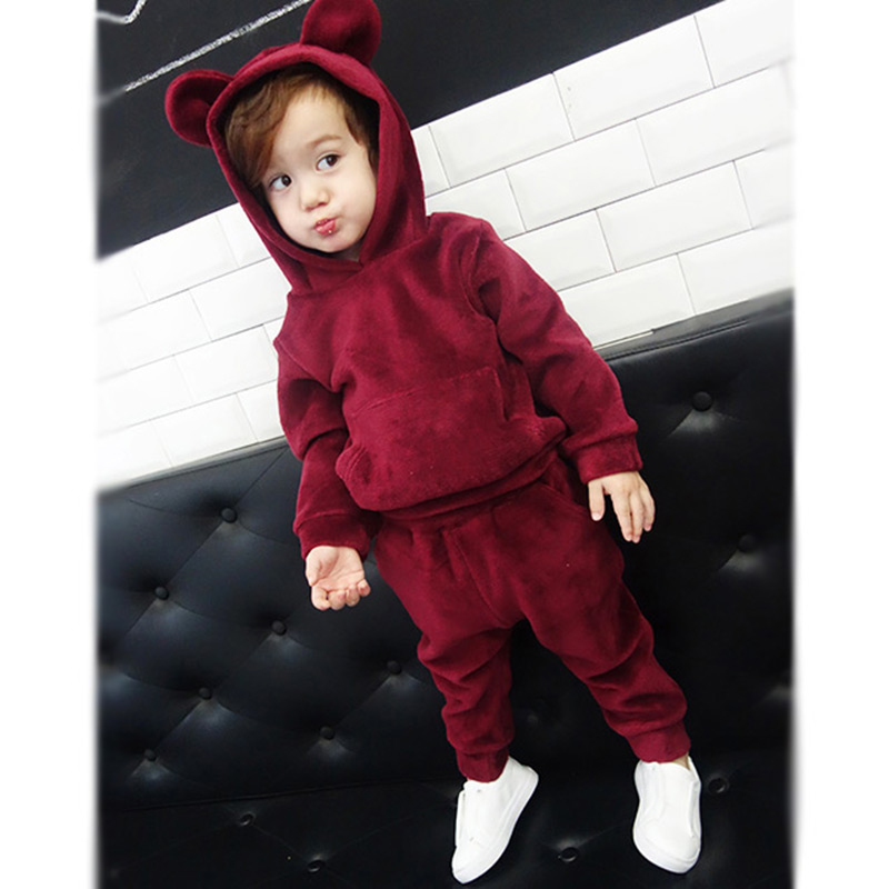Clothes for Girls Boy Children Sets Winter Autumn Cute Boys Pajamas Kids Roupas Infantis Menino Toddler Girl Keep Warm Clothing fashion brand autumn children girl clothes toddler girl clothing sets cute cat long sleeve tshirt and overalls kid girl clothes