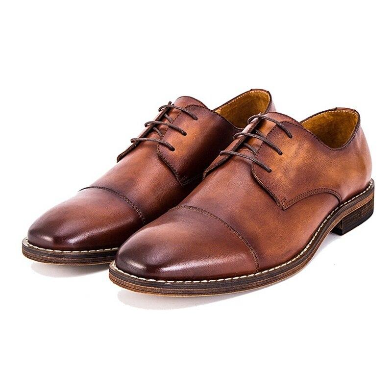 Genuíno De Redondo Brown Dedo Pé Nova Calçado Vintage Do Mão Alta Clássico Couro Ss75 black Festa Feitos Qualidade Homem Marrom À Homens Vestido Casamento Dos Sapatos Formal 5wIqxIHUnF