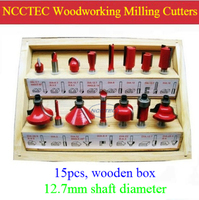 15 Pcs Router Bit Set Woodworking Milling Cutters For Wood Router Trimmer Machine FREE Shipping