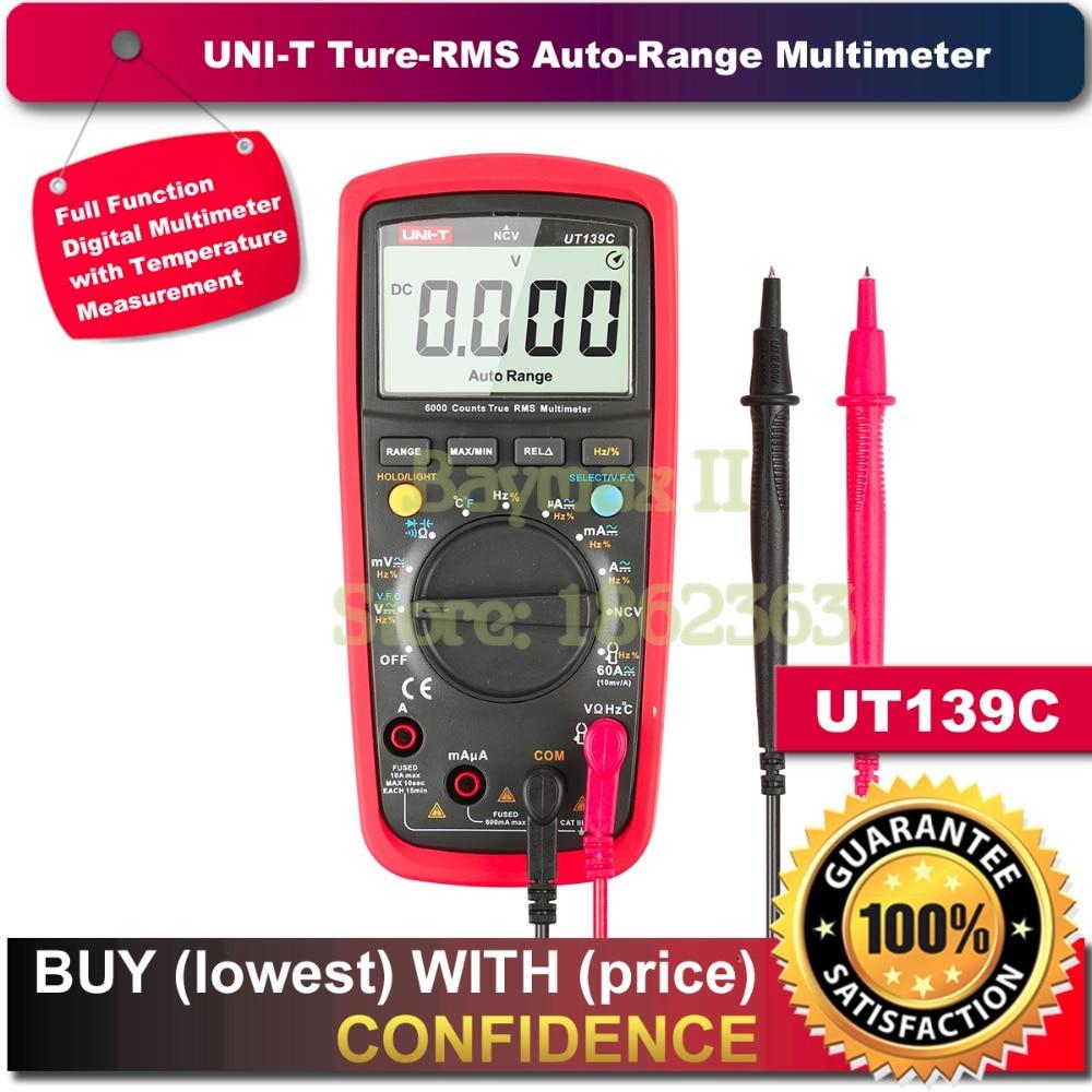 UNI T UT139C True RMS 2.6 LCD Digital Multimeter Electrical Handheld Tester Multimetro LCR Meter Ammeter Multitester
